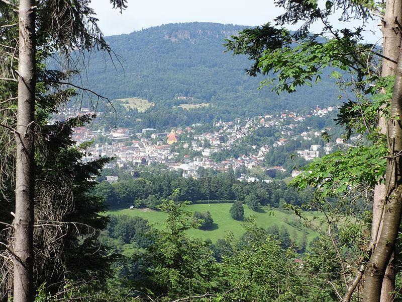 Ein kurzer Blick vom Louisfelsen ins Tal.
