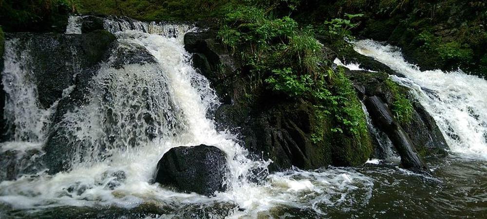 Der Rötenbach rauscht über Felsen.